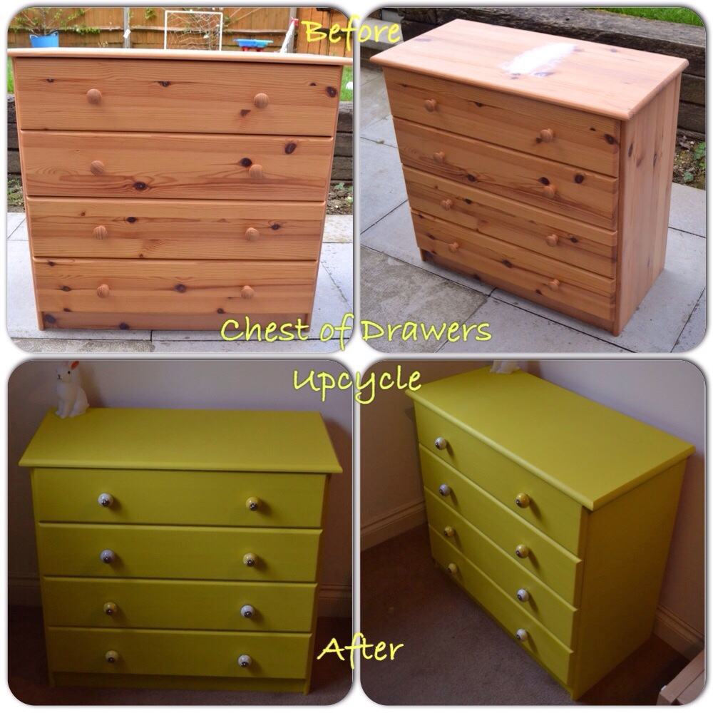 upcycle a pine chest of drawers for a completely new look. Black Bedroom Furniture Sets. Home Design Ideas